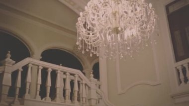 Beautiful house with great chandelier — Stock Video