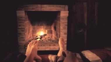 Älskande par i sängen — Stockvideo