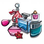 Perfumes — Stock Vector