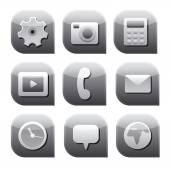 Interface icon set — Stock Vector