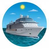 Cruise ship — Stock Vector