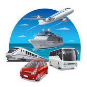 Travel transport — Stock Vector