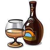 Cream liqueur — Stock Vector