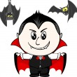 Little child with vampire costume — Stock Vector #56388161