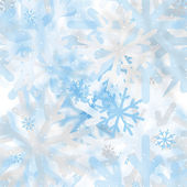 Abstract seamless pattern of snowflakes blurry — Stockvector