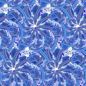Seamless blue pattern Russian folk Gzhel — Stock Photo