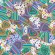 Seamless pattern of colorful striped hearts — Stock Vector #60103585