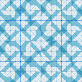 Seamless pattern of blue plaid geometric shapes — Stock Vector