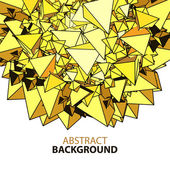 Abstract background with yellow polygonal figures — Stock Vector
