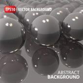 Abstract glass balls illustration — Stock Vector