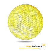 Abstract background with yellow polygonal sphere — Vettoriale Stock