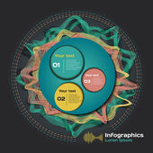 Infographics with sound waves — Cтоковый вектор