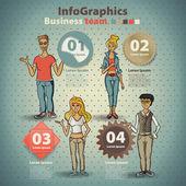 インフォ グラフィックは、グローバルなインターネットのスケッチのスタイルで設定 — ストックベクタ