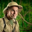 Funny explorer in the forest — Stock Photo #51817079