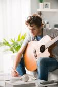 Songwriter composing a song — Stock Photo