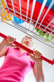Shopping at supermarket — Stock Photo