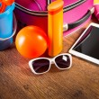 Leaving for vacation with tablet — Stock Photo #51824121