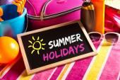 Happy summer holidays card — Stock Photo