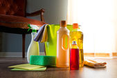 Household wood cleaners — Stock Photo