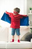 Little superhero with super powers — Stock Photo
