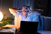 Bad news late at night — Stock Photo