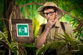 Exit sign in the wilderness — Stock Photo