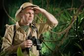 Orienteering in jungle — Stock Photo