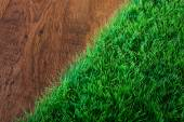 Artificial turf close-up — Stock Photo