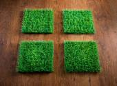 Artificial turf tiles — Stock Photo