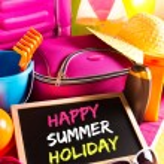 Happy summer holidays card — Stock Photo #52845791