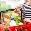 Full shopping basket — Stock Photo #52847511