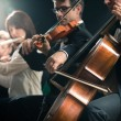 Classical music concert: symphony orchestra on stage — Stock Photo #52848979