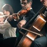 Klasik müzik konseri: Sahne Alanı'nda Senfoni Orkestrası — Stok fotoğraf #52848979