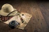 Ancient treasure map — Stock Photo