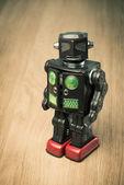 Vintage tin toy robot — Stock Photo