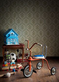 Vintage colorful tricycle — Stock Photo