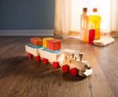 Hardwood floor safe cleaning — Stock Photo