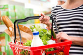 Full shopping basket — Stock Photo