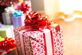 Colorful gift box close-up — Stock Photo