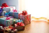Plenty of colorful presents — Stock Photo