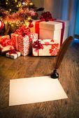 Writing to Santa Claus — Stock Photo