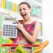 Budget friendly shopping at supermarket — Stock Photo #54008107