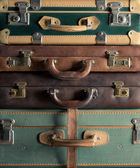 Colorful vintage suitcases — Stock Photo