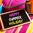 Happy summer holidays card — Stock Photo #54010317