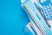 Light blue stationery — Stock Photo