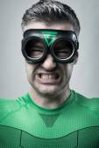 Angry superhero — Stock Photo