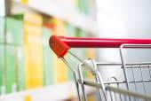 Shopping cart detail close-u — Stock Photo