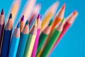 Multicolor wooden pencils — Foto de Stock
