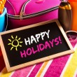Happy summer holidays card — Stock Photo #54992931