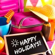 Happy summer holidays card — Stock Photo #54993943
